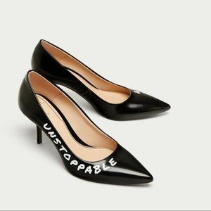 Zara Black Unstoppable & Ambitious Heels Size 9.5